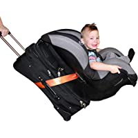 Car Seat Travel Strap, Car Seat Travel Belt - Turns Car Seat and Carry-on Luggage into Airport Car Seat Stroller Carrier