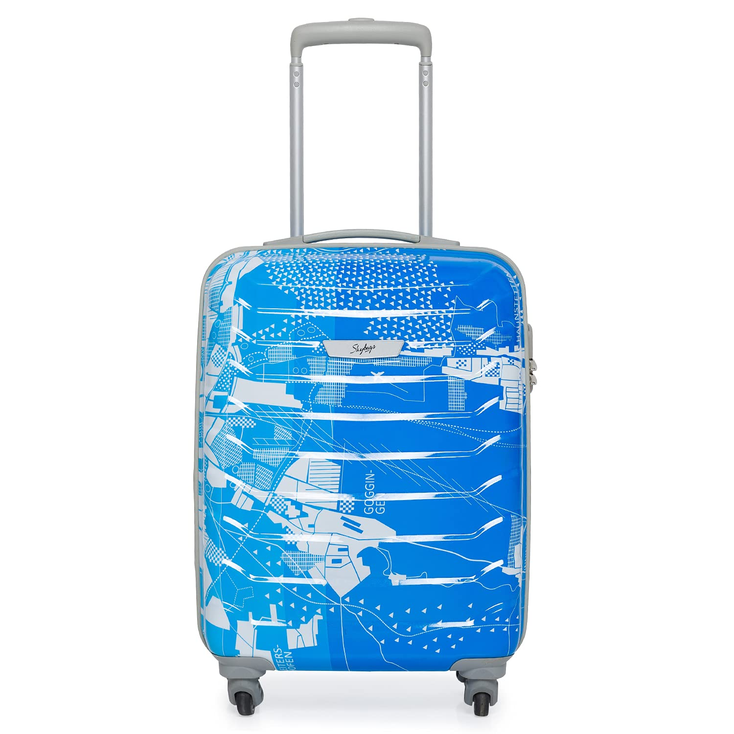 Skybags 55 Cms Polycarbonate Blue Hardsided Cabin Luggage $31.01 Coupon