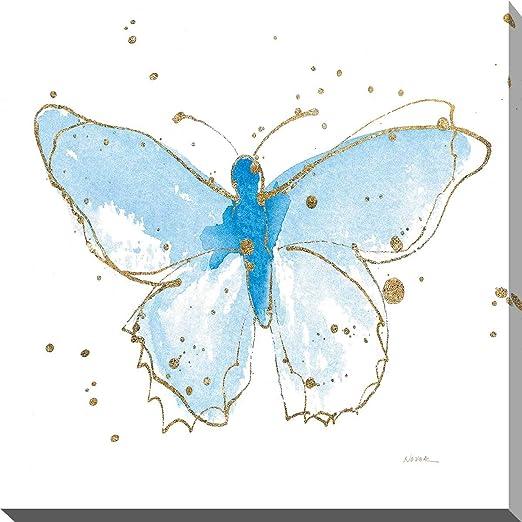 24 x 24 Gilded Butterflies IV Poster Print by Shirley Novak