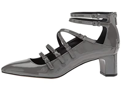3f10e0aa4e59 Calvin Klein Womens Madlenka Patent Closed Toe Ankle Pumps Shoes Slate  Patent Size 5.0 M US