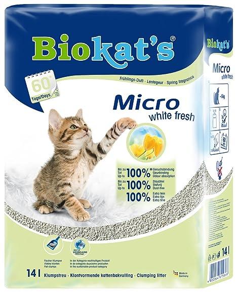 biokat s Micro White Fresh Fina Gato dispersa con Aroma de Primavera, Alta Rendimiento
