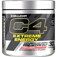 C4 Extreme Energy Pre Workout Powder Cherry Limeade | Sugar Free Preworkout Energy Supplement for Men & Women | 300mg…