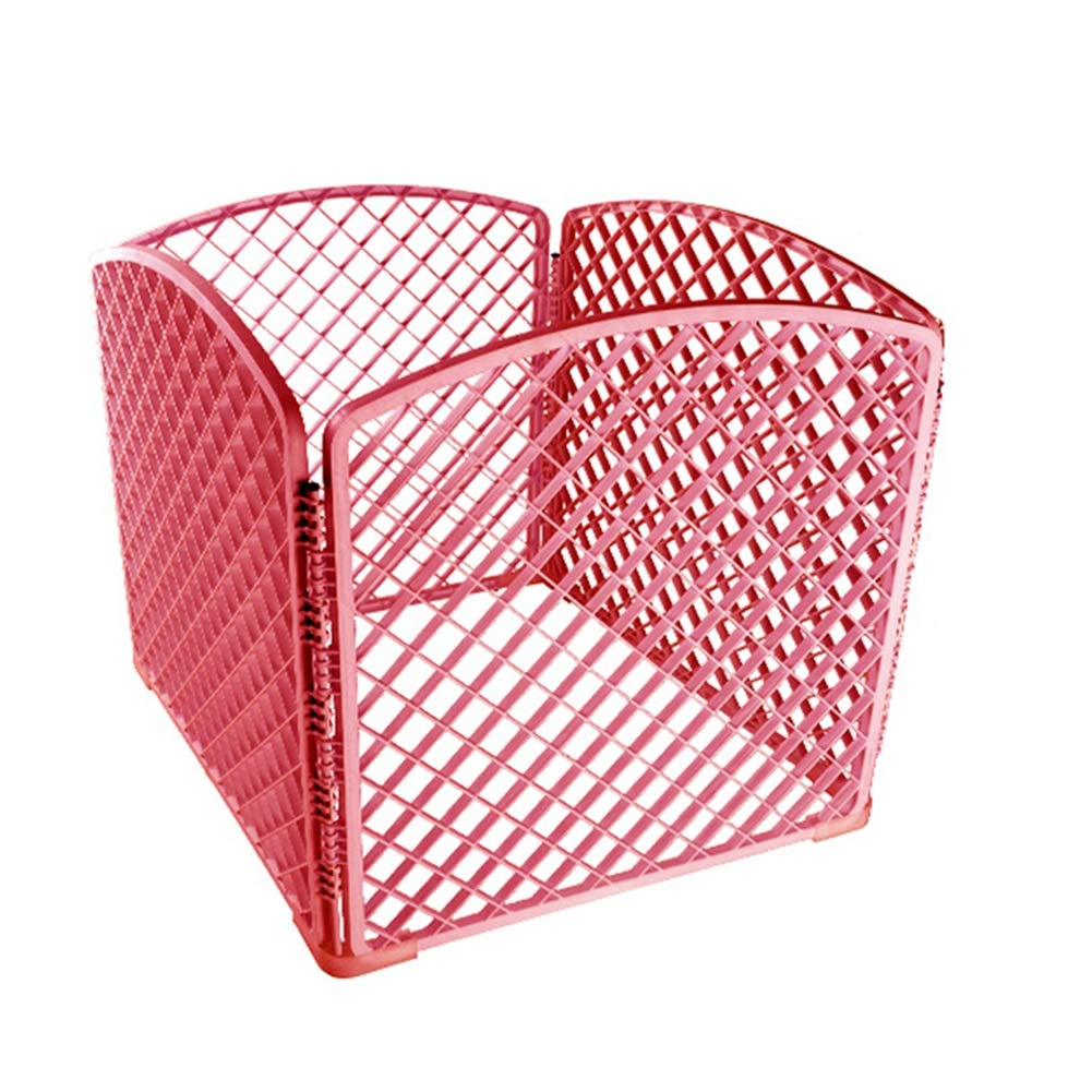 Pink Pet Playpen Animal Fence Cage, Portable Pet Supplies Esercizio Yard Kennel for Small Animal Cage (colore:Pink)