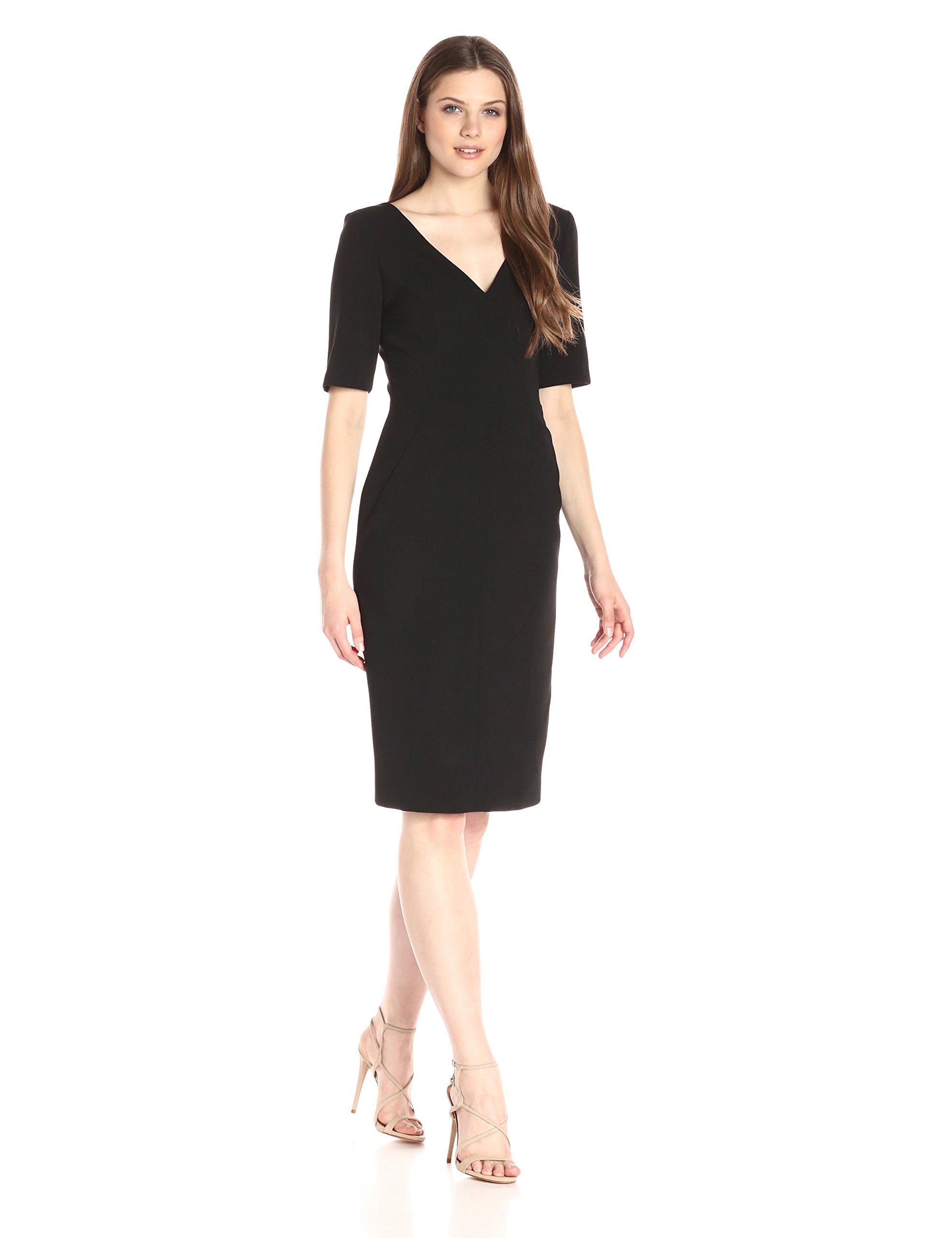 Black Halo Women's Jeanette Sheath Dress, Black, 8