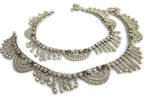 Fashion Jewelry Pair Indian Star Anklet Payal Silver Tone Bracelets Ankle Chain Fashion Jewelry High Quality Goods