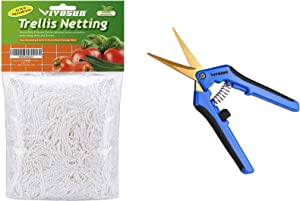 VIVOSUN 1-Pack Gardening Hand Pruner Pruning Shear with Netting