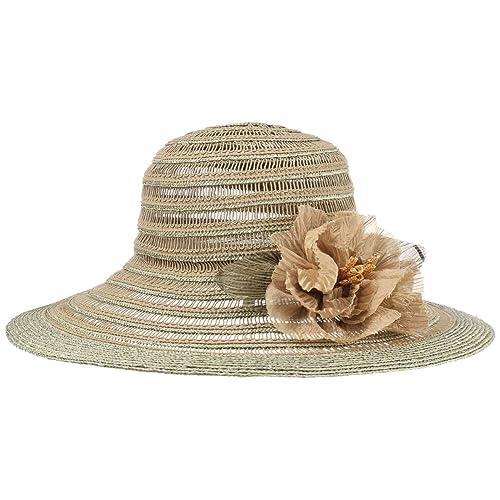 GREVI Sombrero de Mujer Flower Flapper by mujersombrero sol (talla única - verde oliva claro)