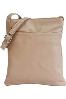 ed5199b54adea AMBRA Moda Italienische Ledertasche Schultertasche Crossover Umhängetasche  Nappaleder Damen Kleine Tasche NL611