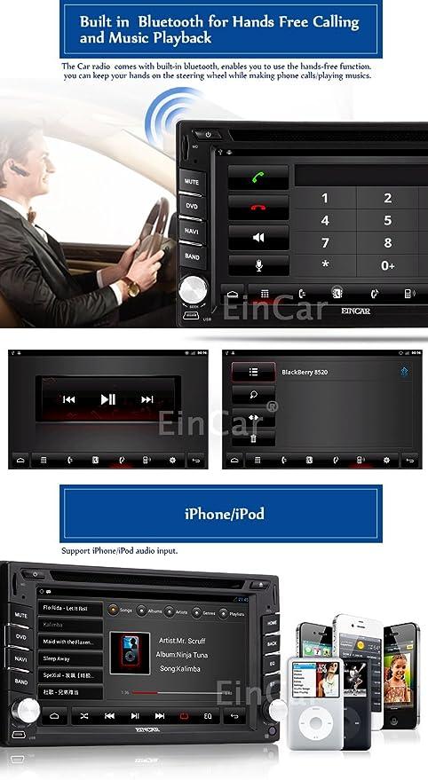 Amazon.com: in-Dash HD Rear Camera Built AUX in GPS ...