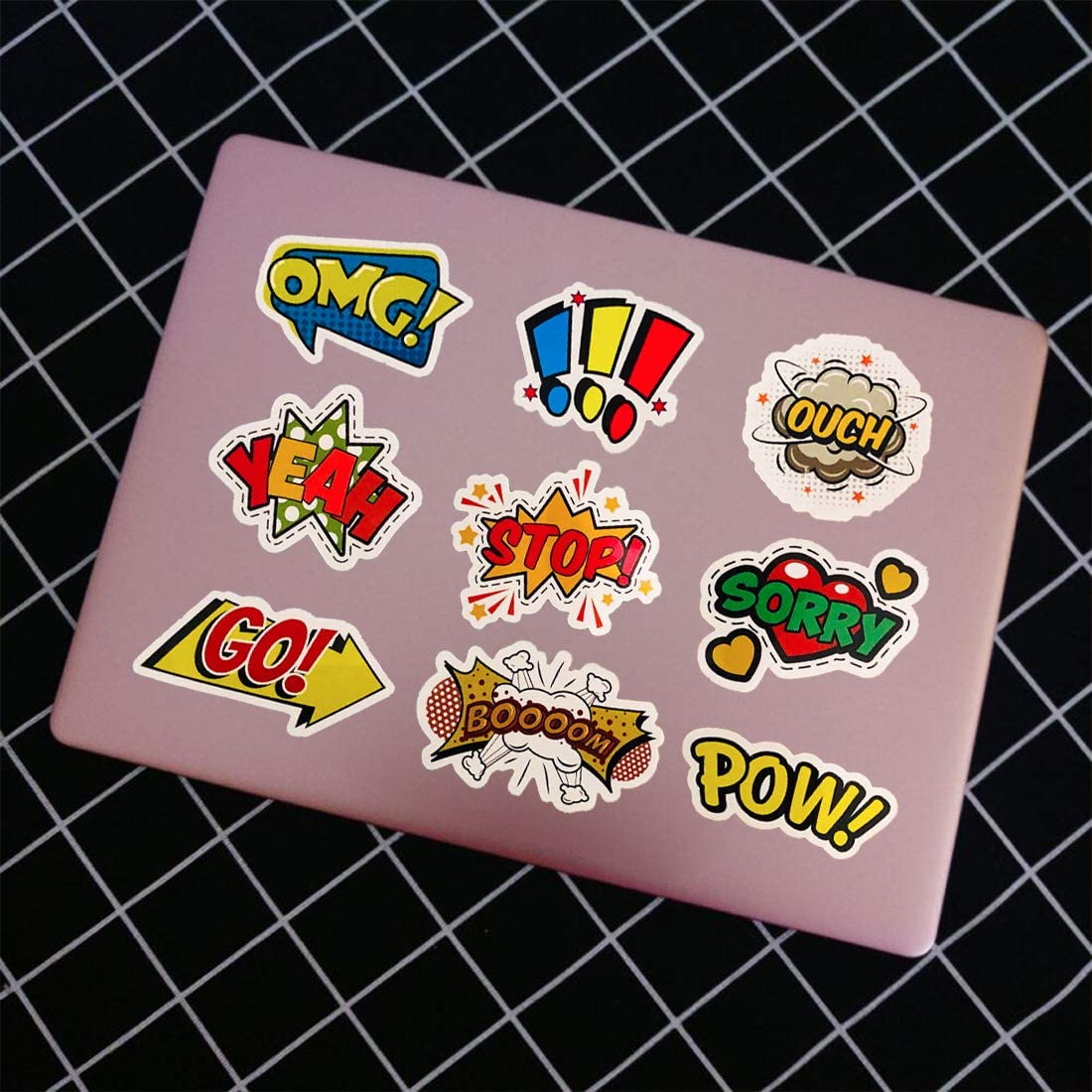 Surprise Alphabet Laptop Stickers Vinyl for Water Bottle Skateboard Guitar Suitcase Door Motorcycle Car Party Bags Phone Case DIY Decoration ...