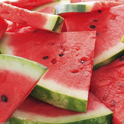 Watermelon Seeds --Crimson Sweet-- Non-gmo Heirloom 100 Seeds : Garden & Outdoor