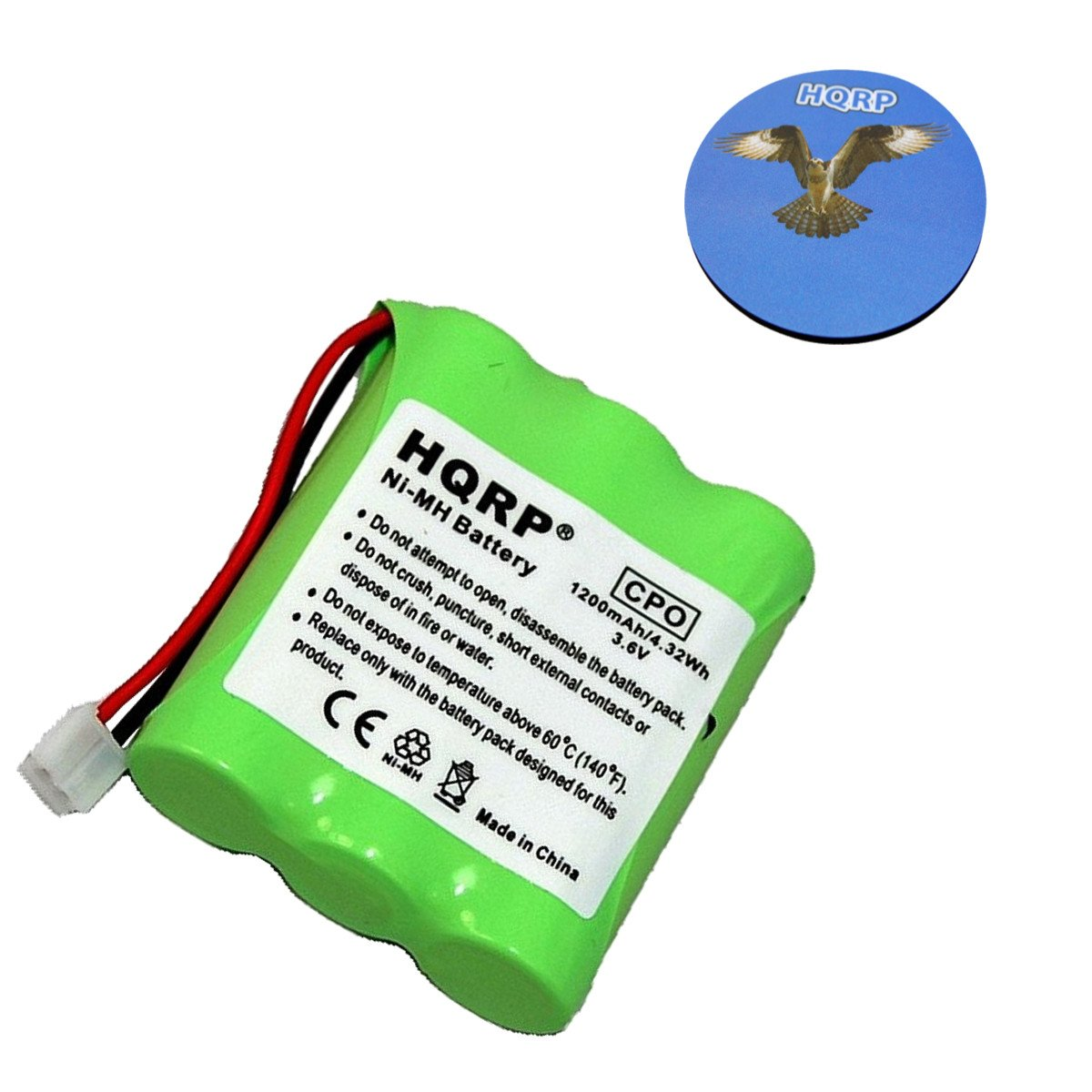 HQRP Cordless Phone Battery compatible with General Electric GE 5-2548/52548, 27831 Replacement plus Coaster