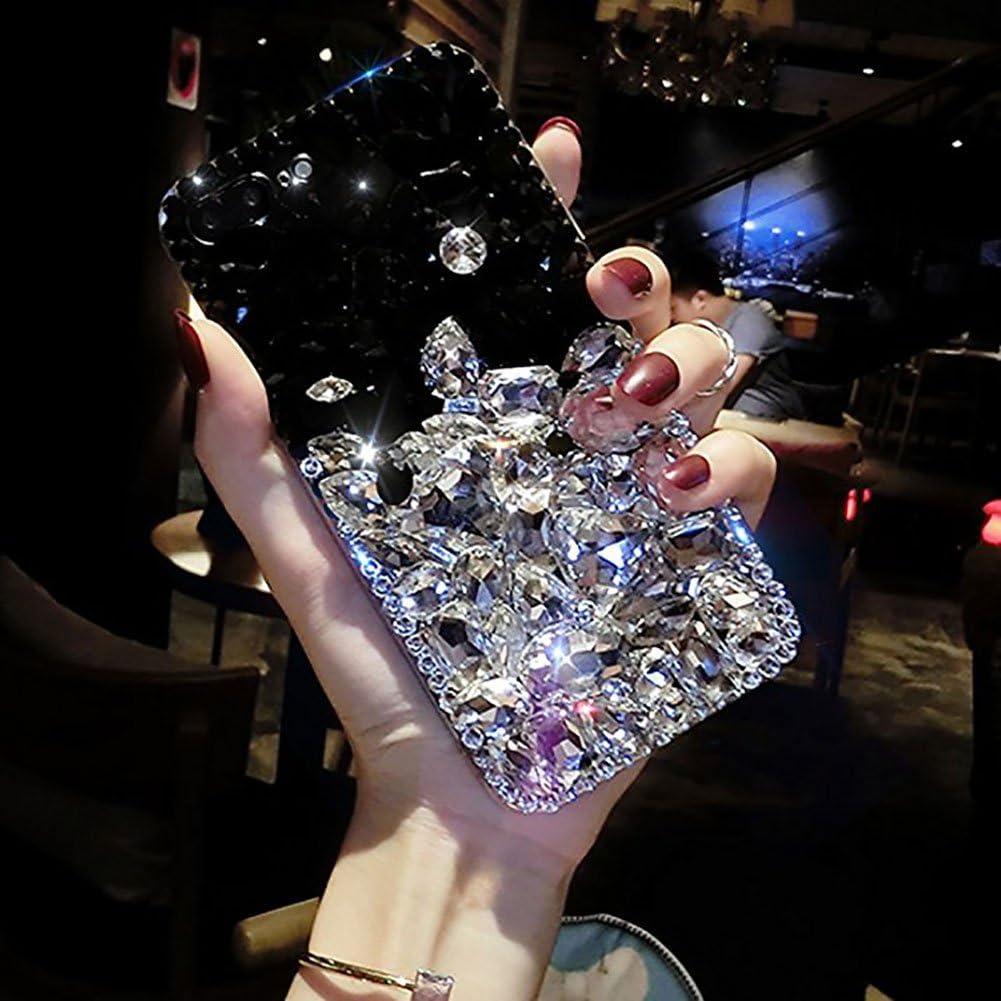 Brillo Cristal Completos Diamonds Brillantes Transparente Bumper Mujeres Ni/ñas Protector Carcasa Funda para Huawei P30 Pro-Blanco/&Rosa LCHDA Bling Diamante Funda para Huawei P30 Pro