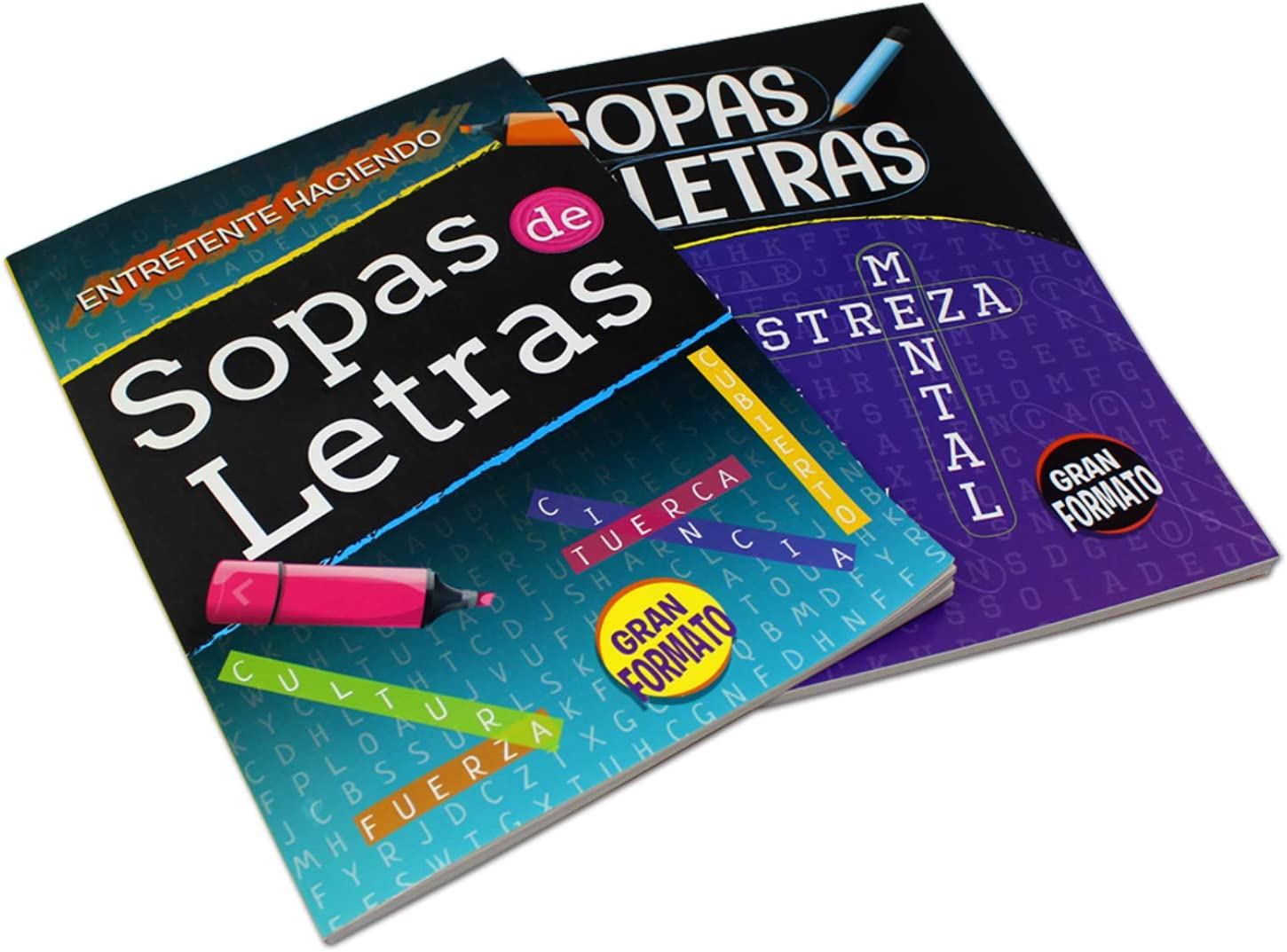 Amazon.com: 2 Pack - Spanish Word Search Book Jumbo, Sopas de Letras en  Espanol Each Easy-to-See Seek & Circle. Word Find, Work Puzzle Game Book:  Toys & Games