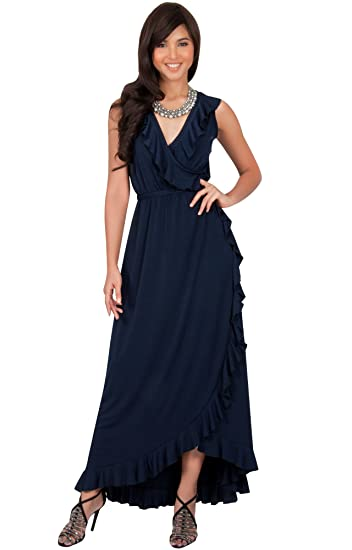 Koh Koh Petite Womens Long Summer Sleeveless Wrap Evening Bridesmaid Sexy Wedding Party Guest Elegant Sun