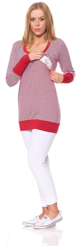 Milchshake - Umstands-und Stillshirt mit Stulpen - Langarm - Alegra