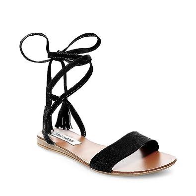 Steve Madden Women's Kapri Black Suede Sandal