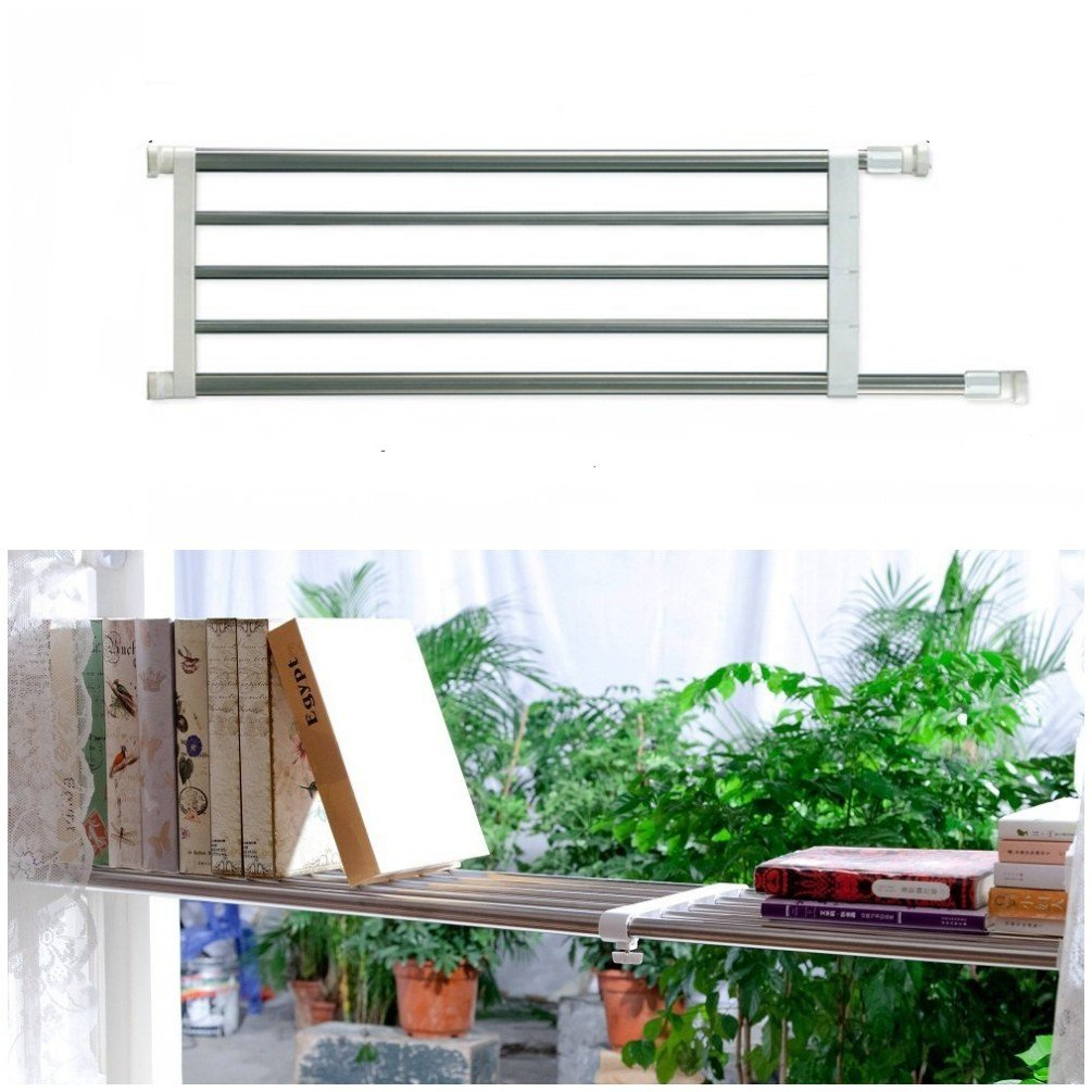 Baoyouni Expandable Garage Shelf Rust Proof Tension Closet Shelves 46''-74'', Commercial Grade 0827