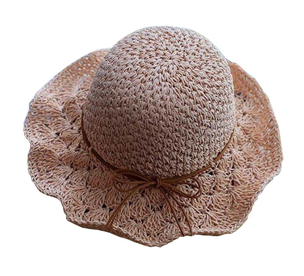 Alien Storehouse [Pink] Fashion Women Summer Straw Hat Beach Hat Wide Brim Hat Topper