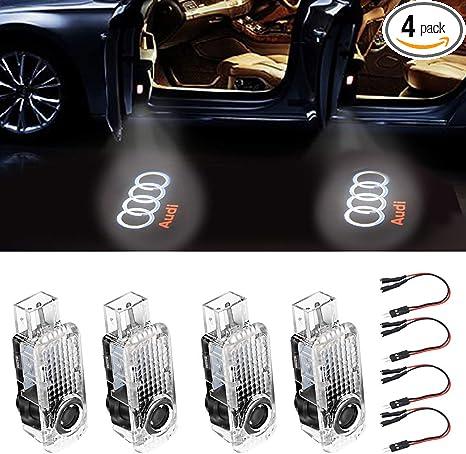 Amazon.com: Luz LED para puerta de coche con logotipo HD ...