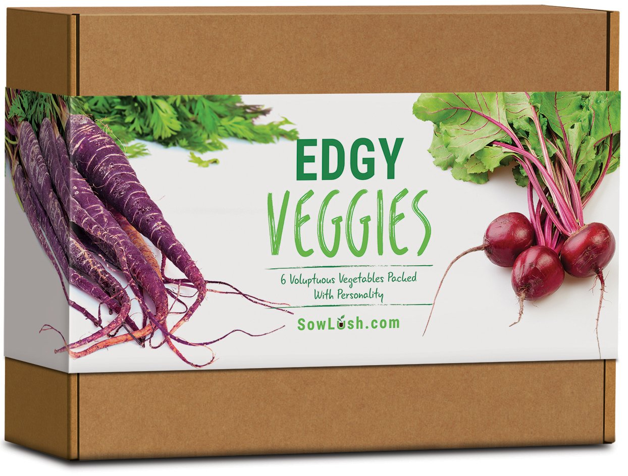 Edgy Veggies Gift Seed Kit. 6 Voluptuous Vegetables Packed with Personality. Easy to Grow. Sow Lush