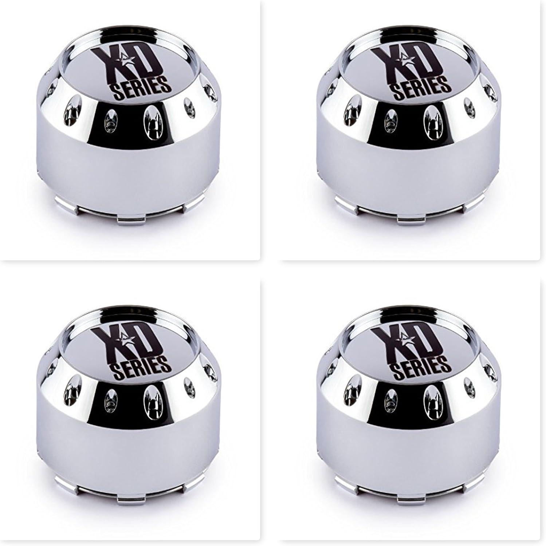 4 Pack KMC XD Series 464K106 Chrome Wheel Center Cap 6 Lug