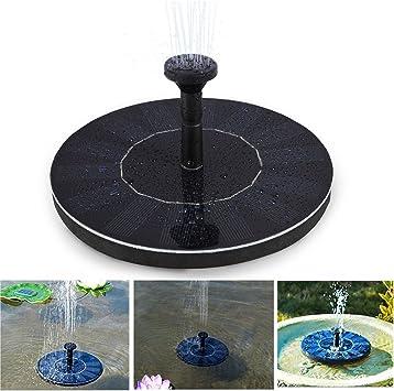Soledi Bomba Flotante Solar de Fuente para Jardín Estanque Fuentes Cascadas Energía Solar Bomba para Fuente: Amazon.es: Hogar