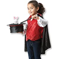 Melissa & Doug Magician Role Play Costume Set (Includes Hat, Cape, Wand, Magic Tricks)