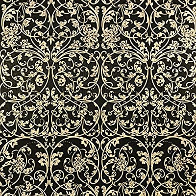 paste the wall only Embossed Slavyanski wallcoverings washable victorian floral damask pattern Vinyl Non-Woven Wallpaper black gold glitters metallic textured wall covering decal decor 3D modern rolls