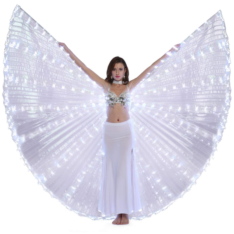 Dance Fairy Belly Dance LED Angel Isis Wings Flexible Sticks by Dance Fairy