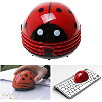 Electric Table Vacuum Cleaner Mini Dust Cleaner Red Ladybird
