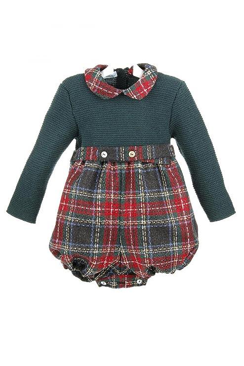 Isabel Maria - Ranita para bebé con el cuerpo de lana y el pantalón de cuadros