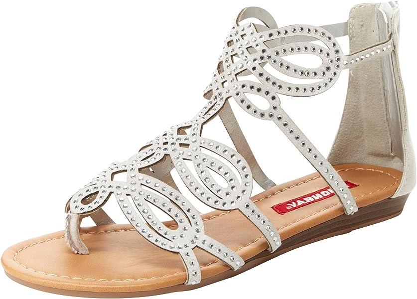 Unionbay Lindy Women's ... Rhinestone Gladiator Sandals VTbLsguy