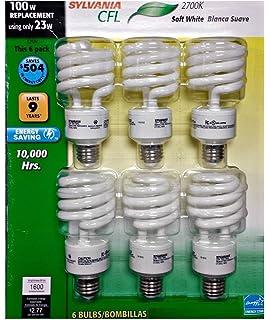 Sylvania Light Bulbs Customer Service: Sylvania CFL 2700K 100W Replacement Bulbs (Pack of 6, Model X21534),Lighting