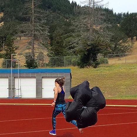 pamase 137 cm resistencia entrenamiento de velocidad de paracaídas Chute con correa ajustable para Sprint, Running, de fútbol/fútbol de la perforación: ...