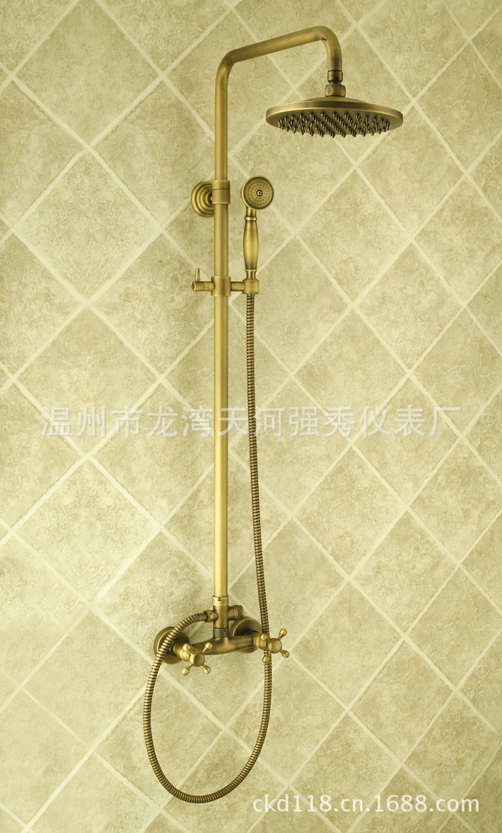 durable modeling SAEKJJ-Bathroom Copper Antique European-Style Minimalist Shower Set Shower Faucet Bathroom faucet