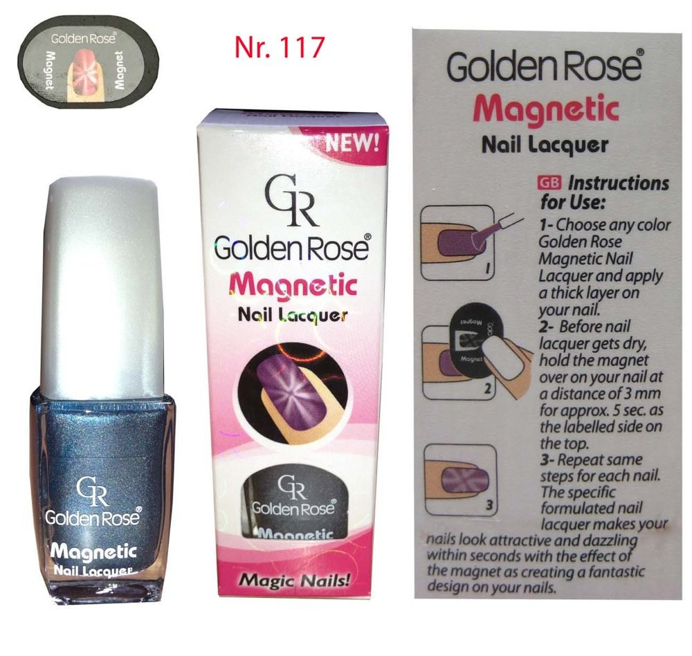 Amazon.com : Golden Rose Magnetic Nail Lacquer - Star Effect (114 ...