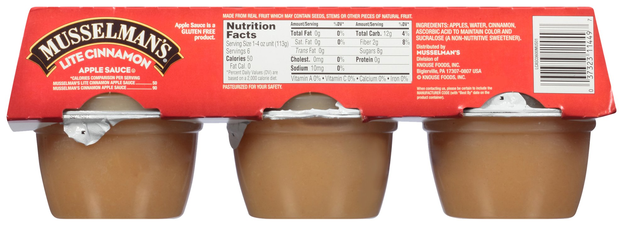 Musselman's Lite Cinnamon Apple Sauce, 4 Ounce (Pack of 12) by Musselmans (Image #2)
