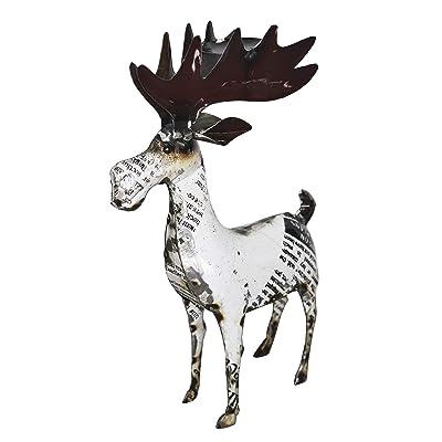 Upcycled Emporium Newsworthy Deer (Large) : Garden & Outdoor