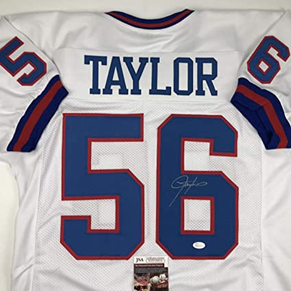 ffed3451e Autographed Signed Lawrence Taylor New York White Football Jersey JSA COA