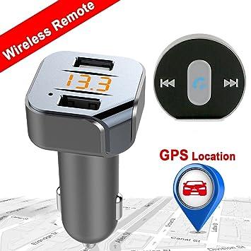 Transmisor FM Bluetooth – VIDEN Coche Radio Adaptador con Control Remoto, Cargador Coche USB Doble, Manos Libres con Micrófono Incorporado, Pantalla ...