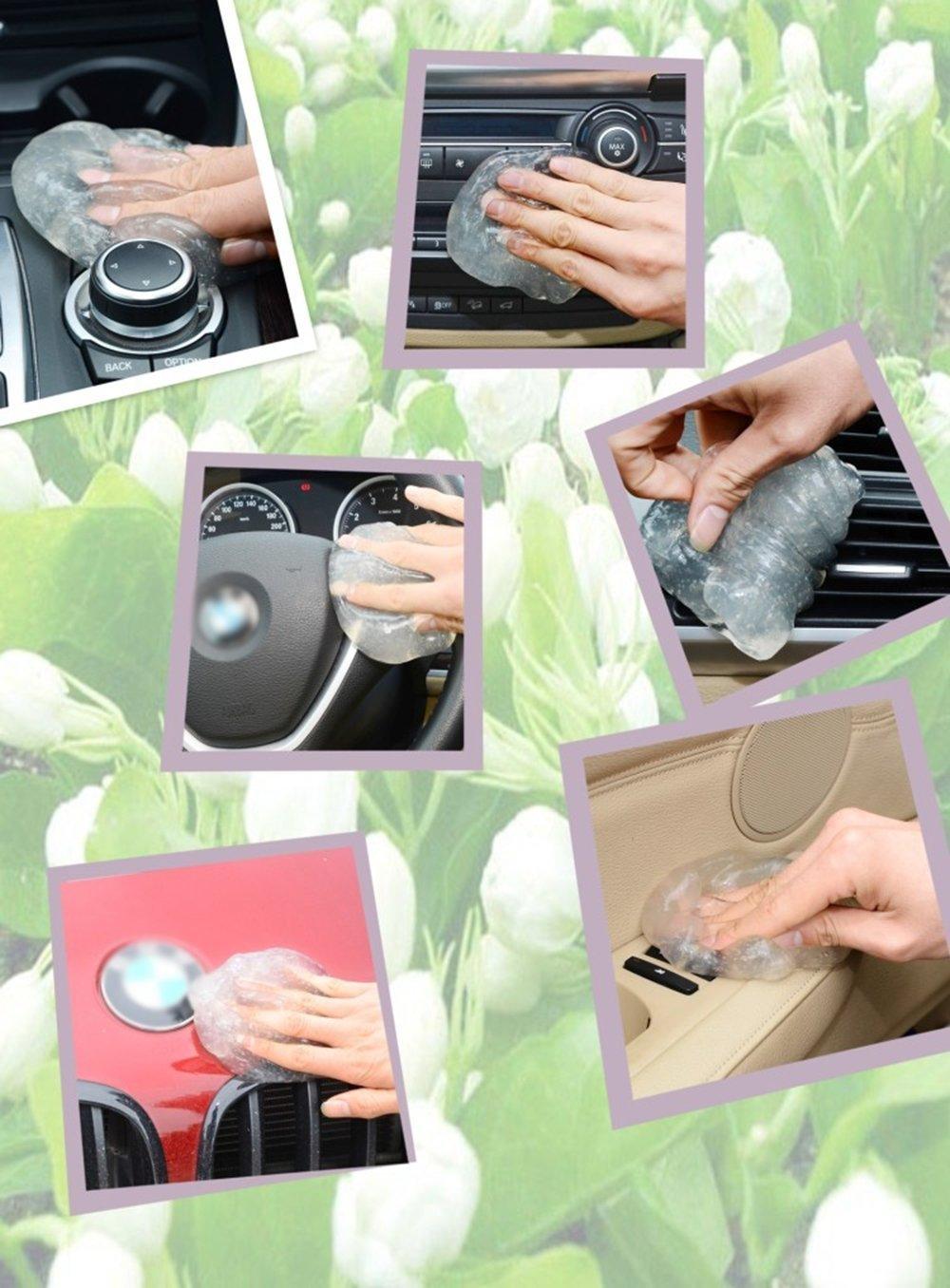 Tolyneil Limpiador de pegamento multifuncional Jelly Gel Flexible Gel Removedor de polvo para portátil teclado coche ventilación: Amazon.es: Hogar