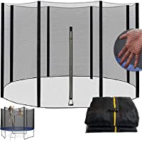 Trampoline 8Ft 10Ft 12Ft 13Ft 14Ft 16Ft Replacement Safety Net for 6/8 Straight Round Frame Trampoline Safety Enclosure…