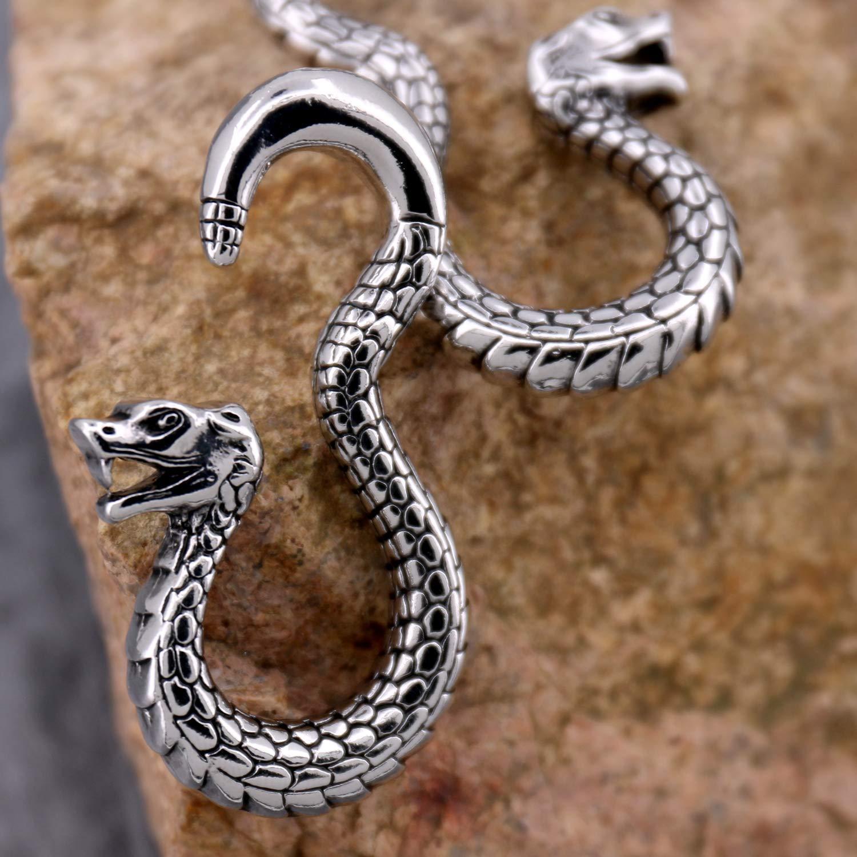 Amazon.com: Jewseen - 2 piercings de serpiente, dilatadores ...