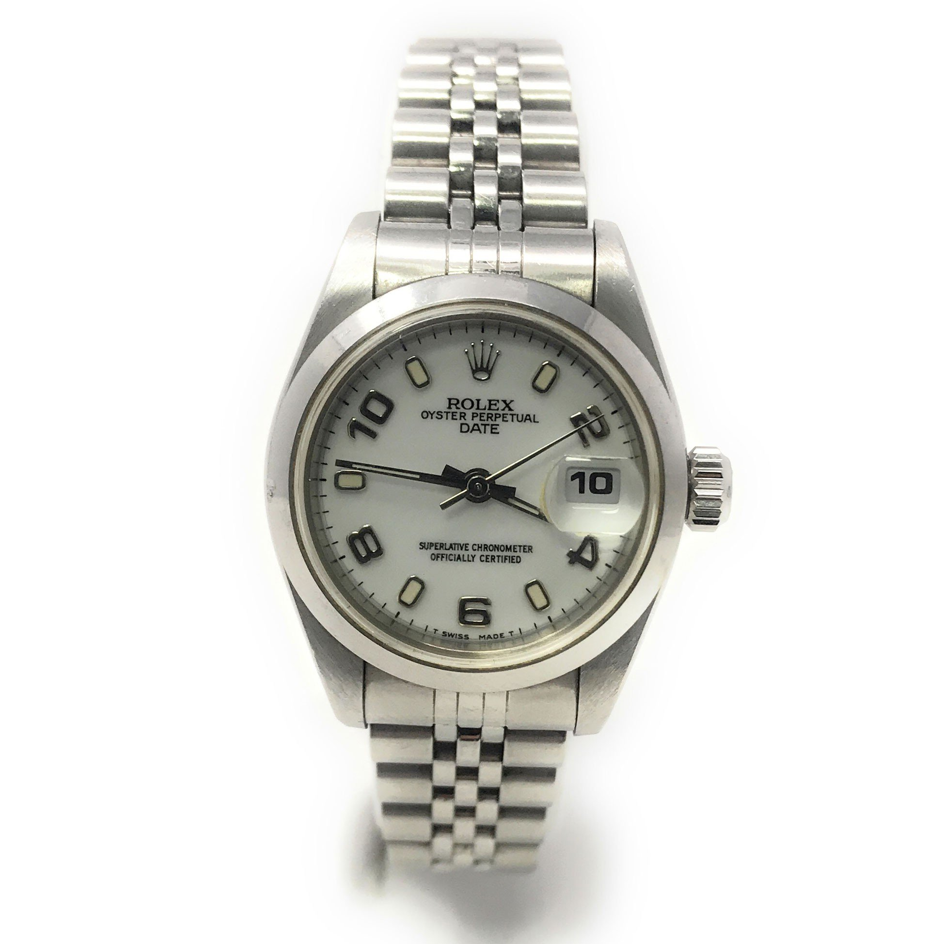 Rolex Date swiss-automatic womens Watch 69160 (Certified Pre-owned)