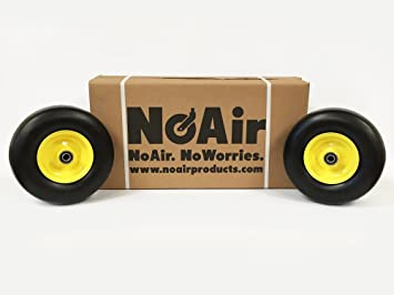 (2) John Deere Flat Free Tire Assemblies 11x4.00x5 Fits Z235E Z255E Z335E