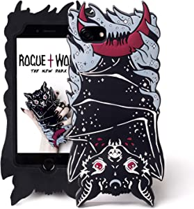 Rogue + Wolf Cute iPhone 6 6s 7 8 Case Protective Phone Silicone Shock-Absorption Scratch Resistant Protection Cover for Girls Kawaii iPhone Cases - Vamp Bat