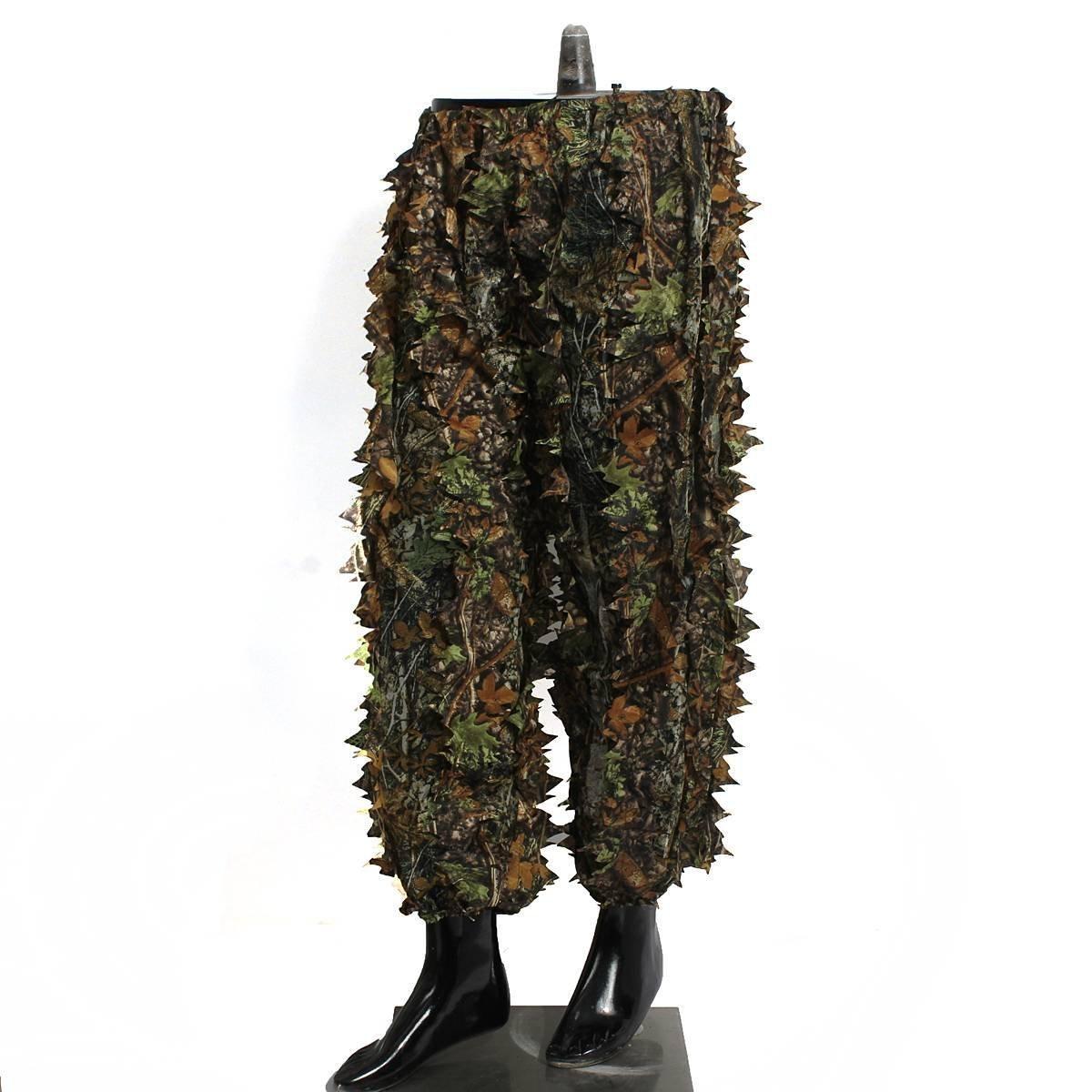 ad4716cbff23b Amazon.com : Boshen Woodland Camo Ghillie Suit 3D Camouflage Jungle Hunting  Clothing Set : Sports & Outdoors