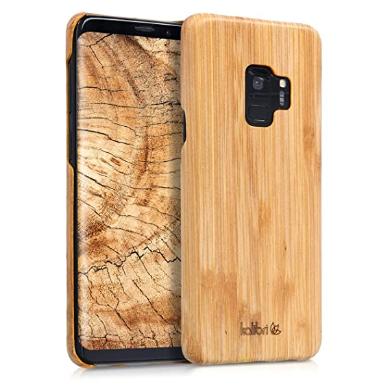 promo code 07c29 014c1 kalibri Samsung Galaxy S9 Wood Case - Ultra Slim Natural Hard Wooden  Protective Cover for Samsung Galaxy S9