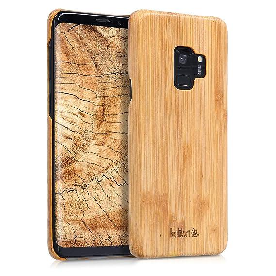 promo code fbe83 571b1 kalibri Samsung Galaxy S9 Wood Case - Ultra Slim Natural Hard Wooden  Protective Cover for Samsung Galaxy S9
